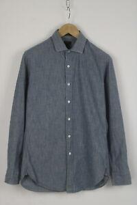 J.CREW LUDLOW STYLE 02685 Men's SMALL Spread Denim Look Casual Shirt 26413_JS
