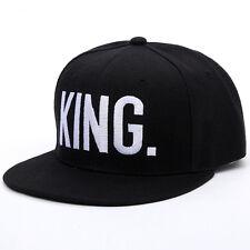 King Queen Baseball Caps Adjustable Couple Hip Hop Snapback Hat Letter Print Cap