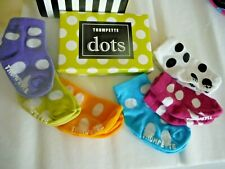 Trumpette Sock Set in Bright Dots 6 pair for 0-12 months - New & Euc