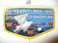 OA O Shot Caw 265 S-4b,1975, 20th Ann Lodge, Night Flap,South Florida Council,FL