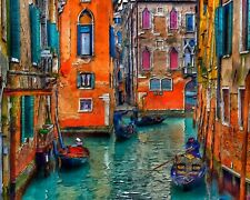 Usa - Diy Paint by Number Kit Acrylic Painting Home Decor - Colors of Venice