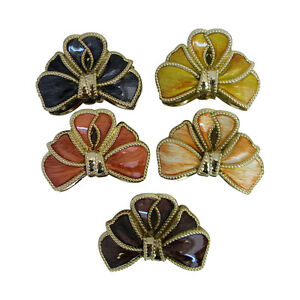 Claw Clip Hair Accessory Brushed Wood Flower Look Jaw Clip  Great Colors!