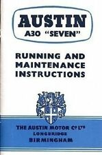 Austin A30 Seven 1956 Handbook Instruction Manual Book catalogue paper