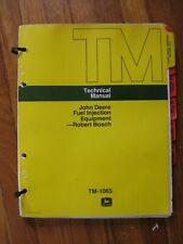 New Listingjohn Deere Robert Bosch Diesel Fuel Injection Pump Technical Manual Tm 1065