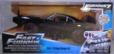 JADA 1:24 SCALE DIECAST METAL FURIOUS 7 DOM'S BLACK 1970 DODGE CHARGER