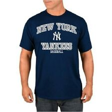 NWT New York Yankees Baseball MLB Genuine Merchandise T-Shirt (L) - Navy