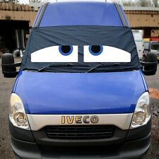 Iveco Black Out Blind Window Screen Cover Camper Van Curtains Wrap Eyes Blue