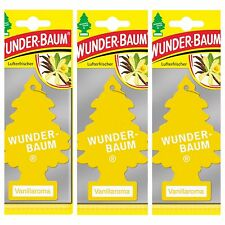 Wunderbaum 3 pcs Magic tree car air freshener Vanillaroma