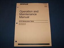 CAT CATERPILLAR C15 GENERATOR SETS OPERATION & MAINTENANCE MANUAL C5E C5H C5L
