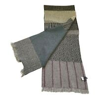 Paul Smith Men Knitted Scarf  100% Wool 175 x 32cm