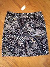 NWT Ann Taylor Funky print short pencil skirt New Size 10 Corduroy mod Paisley