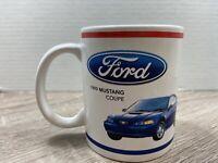 Ford Logo Mustang White Blue 1999 Mustang Sprint Coffee Mug Cup Sports Car 12 oz