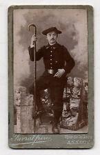 PHOTO CDV Carte de visite FAVRAT FRÈRES ANNECY Montagnard Chasseur Alpin 1900