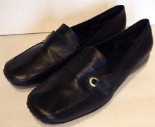 Nine West Black Leather Loafers 8M Rubber Sole