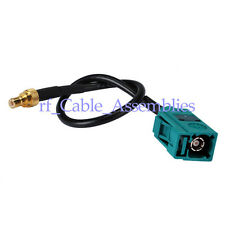 "GPS Antenna Extension Cable Fakra Z female to SMB male Pigtail 4"" Neutral Coding"