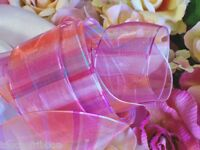 """5 Yards Ribbon pink blue orange purple wreaths bridal gift bow 1 1/2"""" wide wired"""