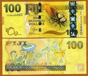 FIJI, 100 dollars, 2012 (2013), P-119,  UNC > New Design, latest colorful issue