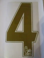 no 4 Premier League EPL Football Shirt Name Set Rear Number Gold Sporting ID