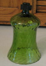 Vintage HOMCO Votive Cup Candle Holder TALL Green Faded Diamond
