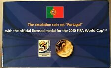 Portugal 2010 FIFA World Cup 8 Euro Coins + Portugal Official Medal UNC Sealed