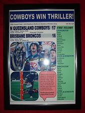 Le North Queensland cowboys 17 BRONCOS 16 - 2015 LNR grand final-Encadrée IMPRIMER