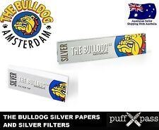 THE BULLDOG SILVER - PURE HEMP ROLLING PAPERS AND FILTERS [2 PACKS] - TOBACCO