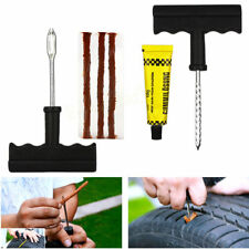 Tyre Puncture Repair Kit Tubeless Car Motorcycle Van Bike Tool Plug Emergency