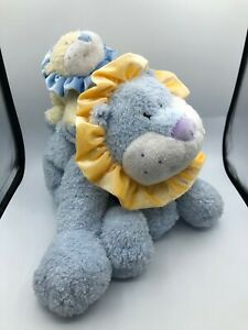 Large Baby Gund Jungle Collection Blue Lion Cub Plush Soft Stuffed Toy Animal