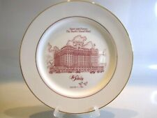 The Peabody Hotel Limited Edition Plate 87/500 Commemorating 56th Anniversary