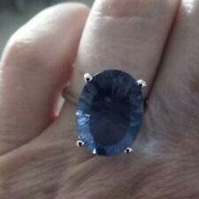 100% Genuine 10.53ct Baiyang Colour Change Fluorite Sterling Silver Ring