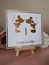 Wedding Table Number Cards Disney Theme Rose Gold Foil Minnie And Mickey