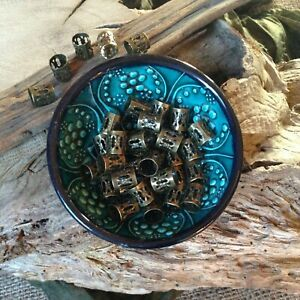 Dreadlock Beads 16x Bronze Adjustable Hole Wrap Cuffs Dread Rings Beard Clips