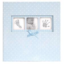 "Innova Baby Boy Blue Polka Dot Book Bound Album/6x4""/200 Photo/Memo Area"