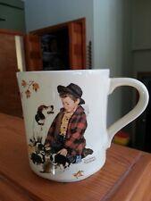 New ListingVintage Norman Rockwell Coffee Mug, A Boy And His Dog 1984