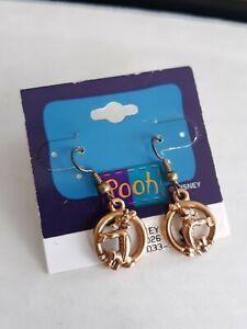 Disney Tigger Gold Tone Circle Earrings