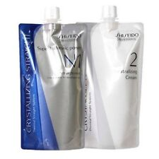 Shiseido (Uk Post )Crystallizing Straightening Hair Cream system N1/N2 400ml X2