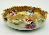 Dow Sie Cot Ure Nippon Japan Floral Porcelain Centerpiece Bowl Late1800s-Lovely!