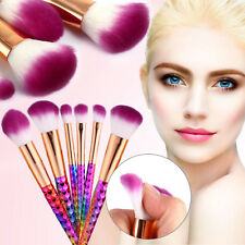 7Pcs Set Unicorn Diamond Glitter Professional Makeup Brush Concealer Foundation
