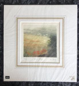 """JO BARRY R.E. b1940 Limited Ed ETCHING """"Heat Haze"""" ed 114/150 Bankside Gallery"""