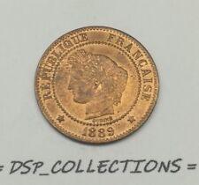 Monnaie de qualité // 2 CENTIMES CÉRÈS 1889 A, SPL UNC ?? // Réf:16-M01