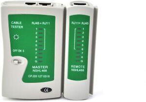 New Ethernet Network LAN Cat5e Cat6e RJ45 RJ11 RJ12 PC Cable Tester UKDC..