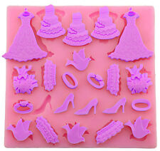 Wedding Accessories Silicone Mold for Fondant, Gum Paste, Chocolate, Crafts NEW