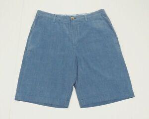 Tommy Bahama Havana Silk Blend Blue Golf Chino Shorts Mens 33