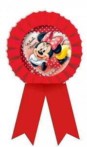 4 X Disney Minnie Mouse Rosette  Party Bag Fillers