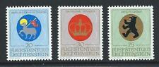 1970 LIECHTENSTEIN Ecclesiastic Arms Set MNH (Scott 475-477)