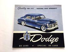 1950 Dodge Special DeLuxe Original Vintage Canada Car Sales Brochure Catalog