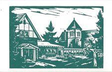Postcard Wisconsin Madeline Island Craft Shop Woods Hall St John's Church MINT