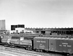 "1942 Railroad Yards, Amarillo, Texas Vintage Old Photo 8.5"" x 11"" Reprint"