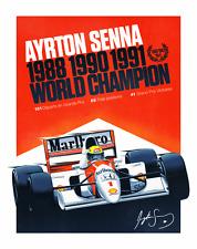 Ayrton Senna - POSTER Formula One World Champion 1988 1990 & 1991 McLaren