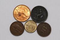 UK GB HALF PENNY 1799 + JERSEY 1909 + IRELAND  + INDIA B21 WA7